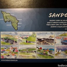 Sellos: FEROE (DINAMARCA) YVERT 572/9. SERIE COMPLETA NUEVA SIN CHARNELA. PINTURAS. ISLA DE SANDOY. Lote 125018344
