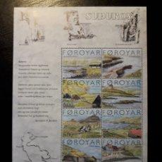 Sellos: FEROE (DINAMARCA) YVERT 469/78. SERIE COMPLETA NUEVA SIN CHARNELA. ISLA DE SUDOROY. Lote 125019027