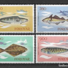 Sellos: ISLAS FEROE 1983 MNH SC.97/100 FISH - 5/1. Lote 125236563