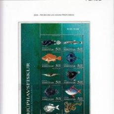 Sellos: FEROE 2006 - AÑO COMPLETO EN HOJAS (VER LAS 5 IMAGENES). Lote 133803178