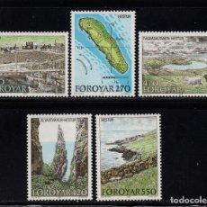Sellos: FEROE 148/52** - AÑO 1987 - TURISMO - ISLA HESTUR. Lote 147488058