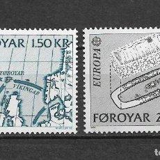Sellos: ISLAS FEROE 1982 ** NUEVO 81-82 0.90 EUROPA CEPT - 3/8. Lote 155439030