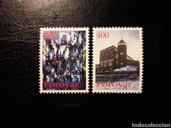 FEROE (DINAMARCA) YVERT 285/6 SERIE COMPLETA NUEVA SIN CHARNELA. NAVIDAD. IGLESIA DE SANTA MARÍA. (Sellos - Extranjero - Europa - Islas Feroe)