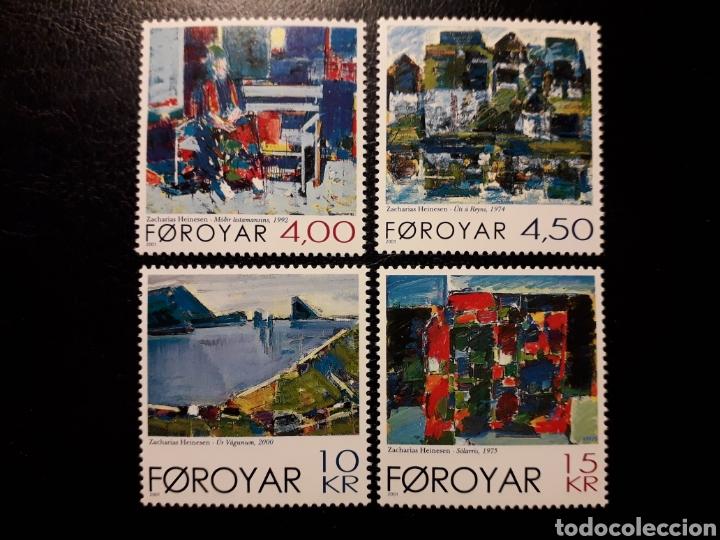 FEROE (DINAMARCA) YVERT 400/03 SERIE COMPLETA NUEVA SIN CHARNELA. PINTURAS (Sellos - Extranjero - Europa - Islas Feroe)