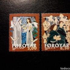 Sellos: FEROE (DINAMARCA) YVERT 408/9 SERIE COMPLETA NUEVA SIN CHARNELA. CITAS DE LA BIBLIA. NAVIDAD. Lote 156002380