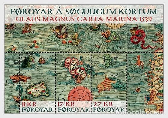 Faroe Islands 2019 Old Maps Souvenir Sheet Mn Buy Old Stamps
