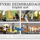 Sellos: FAROE ISLANDS 2018 - THE END OF WW1 SOUVENIR SHEET MNH. Lote 157304794
