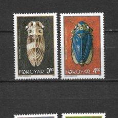 Sellos: ISLAS FEROE 1995 ** SC 276-279 (4) 6.45 FAUNA INSECTOS - 5/42. Lote 168266220