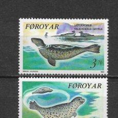 Sellos: ISLAS FEROE 1992 ** FAUNA FOCAS - 5/44. Lote 168363008