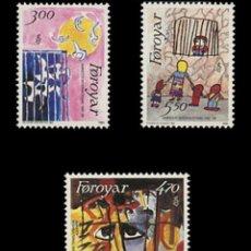 Sellos: ISLAS FEROE 1986 ** SC 145-147 (3) 4.85 - 5/44. Lote 168363176