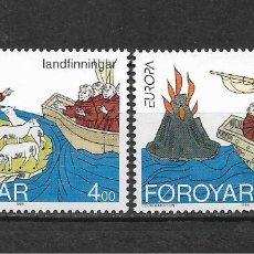 Sellos: ISLAS FEROE 1994 ** SC 264/265 EUROPA CEPT - 5/45. Lote 168364844