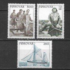 Sellos: ISLAS FEROE 1984 ** SC 112-114 (3) BARCOS - 5/46. Lote 168368348