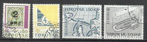 8160F-2 SERIES COMPLETAS ISLAS FOROYAR DINAMARCA SERIE EUROPA Nº37/8 Y 64/5 (Sellos - Extranjero - Europa - Islas Feroe)