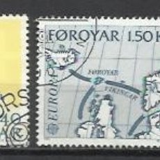 Sellos: 8160F-2 SERIES COMPLETAS ISLAS FOROYAR DINAMARCA SERIE EUROPA Nº37/8 Y 64/5 . Lote 178599791