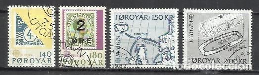 8120-2 SERIES COMPLETAS ISLAS FOROYAR DINAMARCA SERIE EUROPA Nº37/8 Y 64/5 (Sellos - Extranjero - Europa - Islas Feroe)