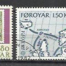 Sellos: 8120-2 SERIES COMPLETAS ISLAS FOROYAR DINAMARCA SERIE EUROPA Nº37/8 Y 64/5 . Lote 178599901