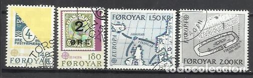 8199-2 SERIES COMPLETAS ISLAS FOROYAR DINAMARCA SERIE EUROPA Nº37/8 Y 64/5 (Sellos - Extranjero - Europa - Islas Feroe)