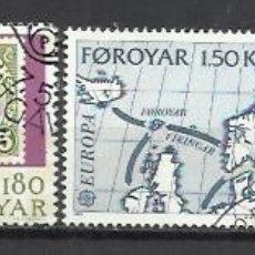 Sellos: 8199-2 SERIES COMPLETAS ISLAS FOROYAR DINAMARCA SERIE EUROPA Nº37/8 Y 64/5 . Lote 178600063