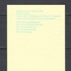 Sellos: ISLAS FEROE 1985 - SERVICIO ÁEREO, S.COMPLETA - SELLOS NUEVOS ** DE CARNET. Lote 182119215