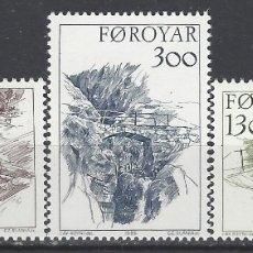 Sellos: ISLAS FEROE 1986 - PUENTES, S.COMPLETA - SELLOS NUEVOS ** . Lote 182119570