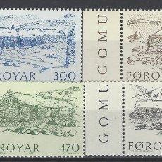 Sellos: ISLAS FEROE 1987 - GRANJAS DE PIEDRA DEL SIGLO XIX, S.COMPLETA - SELLOS NUEVOS. Lote 182119881