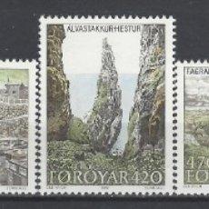 Sellos: ISLAS FEROE 1987 - TURISMO, ISLA DE HESTUR, S.COMPLETA - SELLOS NUEVOS ** . Lote 182120373