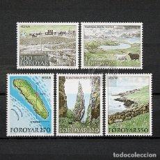 Sellos: ISLAS FEROE 1987 ~ TURISMO: ISLA HESTUR ~ SERIE NUEVA MNH LUJO. Lote 183400812