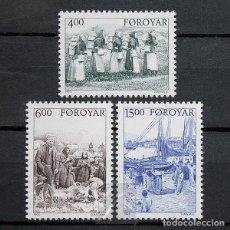 Sellos: ISLAS FEROE 1995 ~ HISTORIA: PRINCIPIOS DEL SIGLO XX EN LAS ISLAS ~ SERIE NUEVA MNH LUJO. Lote 183713633