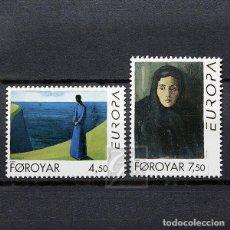 Sellos: ISLAS FEROE 1996 ~ EUROPA: PINTURAS DE SÁMAL JOENSEN-MIKINES ~ SERIE NUEVA MNH LUJO. Lote 183718590
