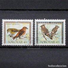 Sellos: ISLAS FEROE 1996 ~ FAUNA: AVES ~ SERIE NUEVA MNH LUJO. Lote 183720558