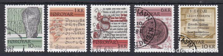 ISLAS FEROE 1981 - SERIE COMPLETA MATASELLADA YVERT Nº 59/63 (Sellos - Extranjero - Europa - Islas Feroe)