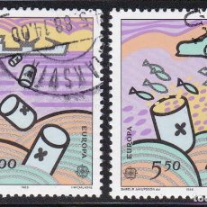 Sellos: ISLAS FEROE 1986 - SERIE COMPLETA MATASELLADA YVERT Nº 128/129. Lote 189488371
