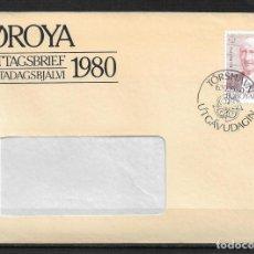 Sellos: ISLAS FEROE 1980 PRIMER DIA EUROPA CEPT - 194. Lote 189670170