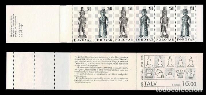 0460 ISLAS FEROE Nº 76-77 CARNET AJEDEREZ CHESS 1983 SIN FIJASELLOS (Sellos - Extranjero - Europa - Islas Feroe)