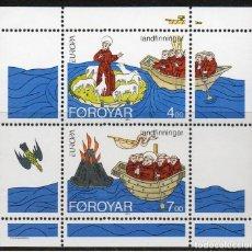 Sellos: FEROE 1994 - EUROPA CEPT - YVERT BLOCK Nº 7**. Lote 199136662