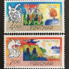 Sellos: ISLAS FEROE, EUROPA CEPT 1995,MNH,PAZ Y LIBERTAD (FOTOGRAFÍA REAL). Lote 203368193