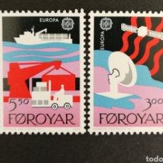 Sellos: ISLAS FEROE, EUROPA CEPT 1987 MNG, TRANSPORTES Y COMUNICACIONES (FOTOGRAFÍA REAL). Lote 204024138