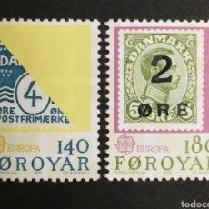 Sellos: ISLAS FEROE, EUROPA CEPT 1979 MNH (FOTOGRAFÍA REAL). Lote 204824392