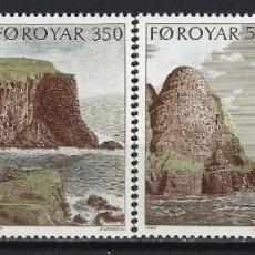 Timbres: ISLAS FEROE 1989 - ACANTILADOS DE SUDEROY, S.COMPLETA - SELLOS NUEVOS **. Lote 210433821