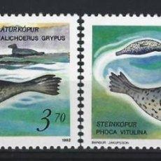 Sellos: ISLAS FEROE 1992 - FOCAS, S.COMPLETA - SELLOS NUEVOS **. Lote 210435972