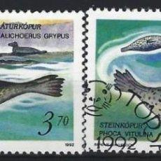 Sellos: ISLAS FEROE 1992 - FOCAS, S.COMPLETA - SELLOS USADOS. Lote 210435996