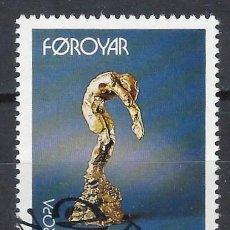 Sellos: ISLAS FEROE 1993 - EUROPA, ARTE - SELLO USADO. Lote 210436036