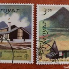 Timbres: ISLAS FEROE, EUROPA CEPT 1990 USADOS (FOTOGRAFÍA REAL). Lote 213728793