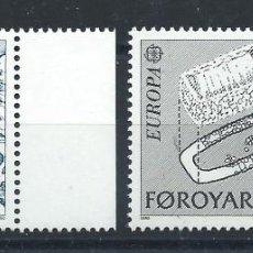 "Sellos: FÉROÉ N°64/65** (MNH) 1982 - EUROPA ""FAITS HISTORIQUE"" (BIS). Lote 227796555"
