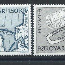 "Sellos: FÉROÉ N°64/65** (MNH) 1982 - EUROPA ""FAITS HISTORIQUE"" (TER). Lote 227796565"