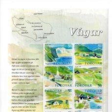Sellos: ISLAS FEROE - TURISMO LOCALIDADES DE LA ISLA DE VAGAR / ELI SMITH - Nº505/514 - AÑO 2005 - HB NUEVA. Lote 236779475