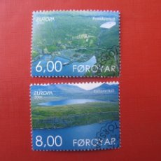 Sellos: *ISLAS FEROE, 2001, EUROPA, EL AGUA RIQUEZA NATURAL, YVERT 398/99. Lote 244769000