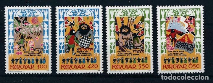 FEROE 1986 IVERT 124/7 *** CUENTOS Y LEYENDAS - LA BALADA SKRIMSLA (Sellos - Extranjero - Europa - Islas Feroe)