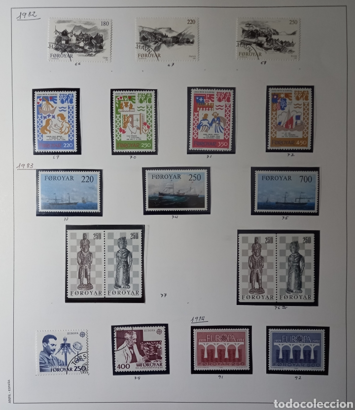Sellos: Colección de sellos de Islas Feroe muy completa hasta el 95, y preparada hasta el 07 Album Anfil - Foto 4 - 260766960