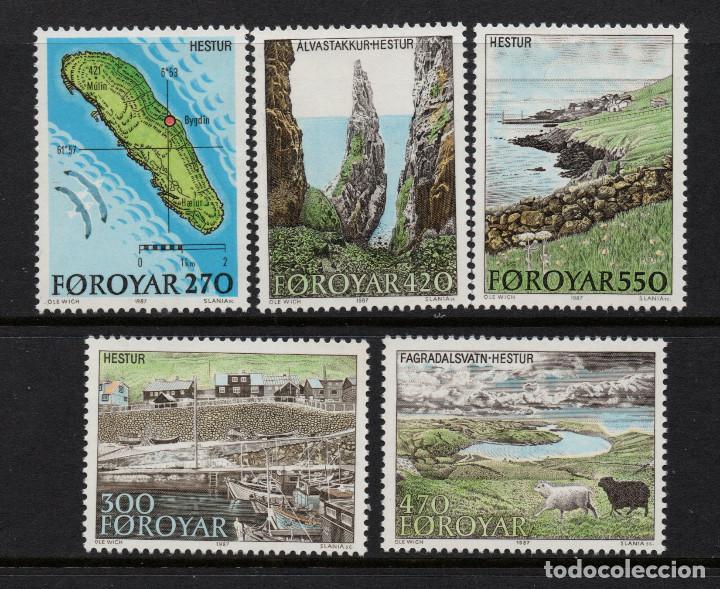 FEROE 148/52** - AÑO 1987 - TURISMO - ISLA HESTUR (Sellos - Extranjero - Europa - Islas Feroe)